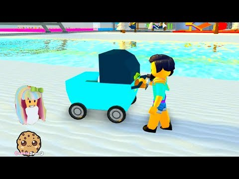 Adopt Me ! Baby Stroller Crazy - Roblox Let's Play Video Game Cookie Swirl C