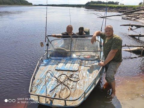 Рыбалка с ночевкой!!!!  УДАЧА!!! Хотели ЩУКУ- поймали ОСЕТРОВ!!!!