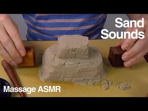ASMR Creating Shapes with Kinetic Sand - No Talking