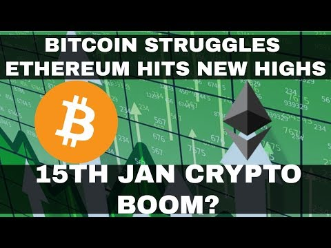 Crypto News | Bitcoin Struggles As Ethereum Hits New High! 15th Jan Will See Big Crypto Boom