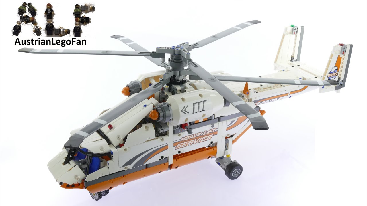 lego technic 42052 heavy lift helicopter lego speed build review youtube. Black Bedroom Furniture Sets. Home Design Ideas