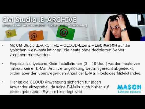 CM Studio .E-ARCHIVE - Teil 4 - Cloud-Einsatz als Alternative zu eigenem Server
