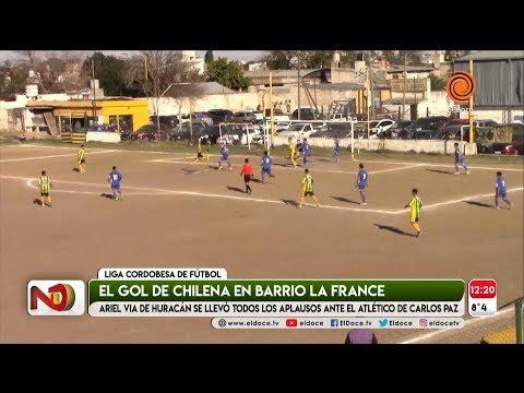 Golazo de chilena en la Liga Cordobesa de fútbol