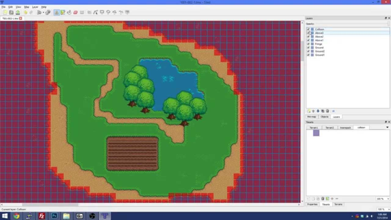 Elmlor Ming With Tiled Working Layers Fringe Collision And Objects You