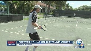 Forever young: 82-year-old tennis champion