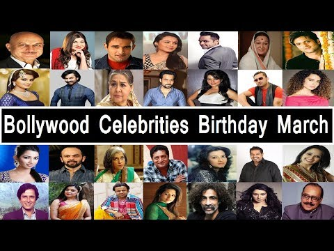 Bollywood Celebrities Birthday In March
