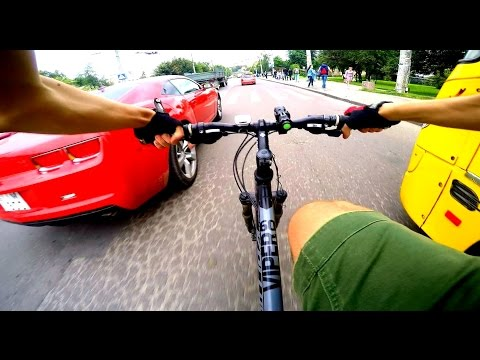 Crazy cycling in the city (LUTSK, Ukraine) GoPro HERO 4