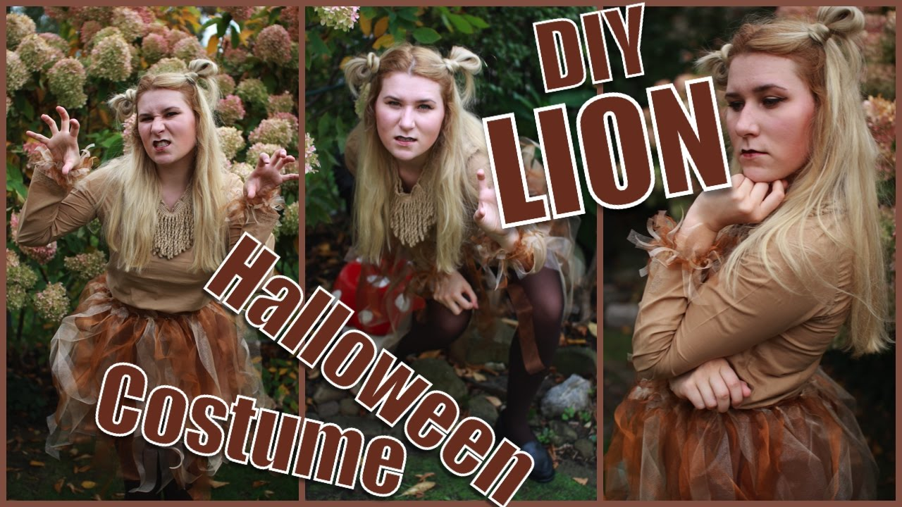 Diy Lion Halloween Costume Easy Cheap Quick
