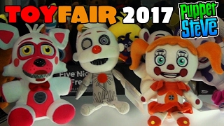Five Nights at Freddy's FNAF TOYFAIR 2017 Funko Plush Series 3 sister location First Look! Coverage