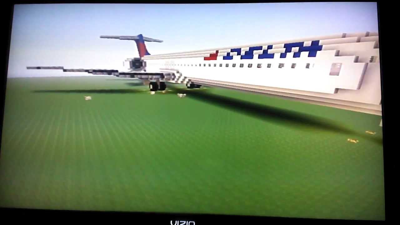 Minecraft Boeing 717 200 Delta Airlines Youtube