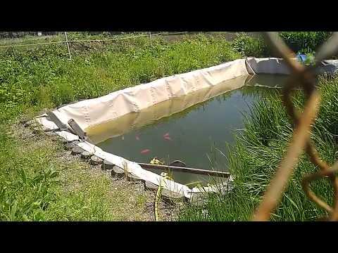 Долгожданная рыбалка на копанке . Небольшой отчет . Искусственный пруд своими руками