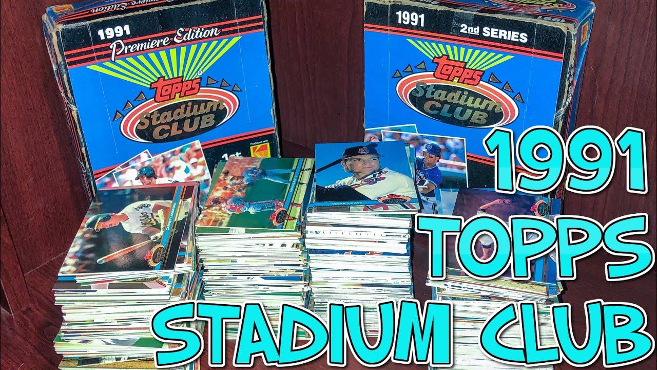 1991 Topps Stadium Club Hobby Box Baseball Cards Break Timelapse How I Sort Through 2 Hobby Boxes