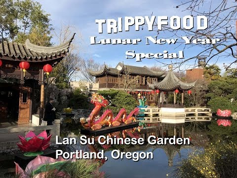 Lan Su Chinese Garden, Portland OR - Trippy Food Lunar New Year Special