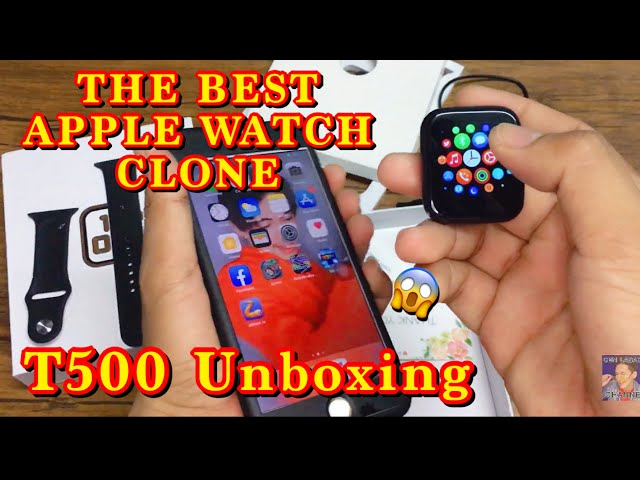 THE BEST APPLE WATCH CLONE | UNBOXING THE T500 SMART WATCH | TUTORIAL