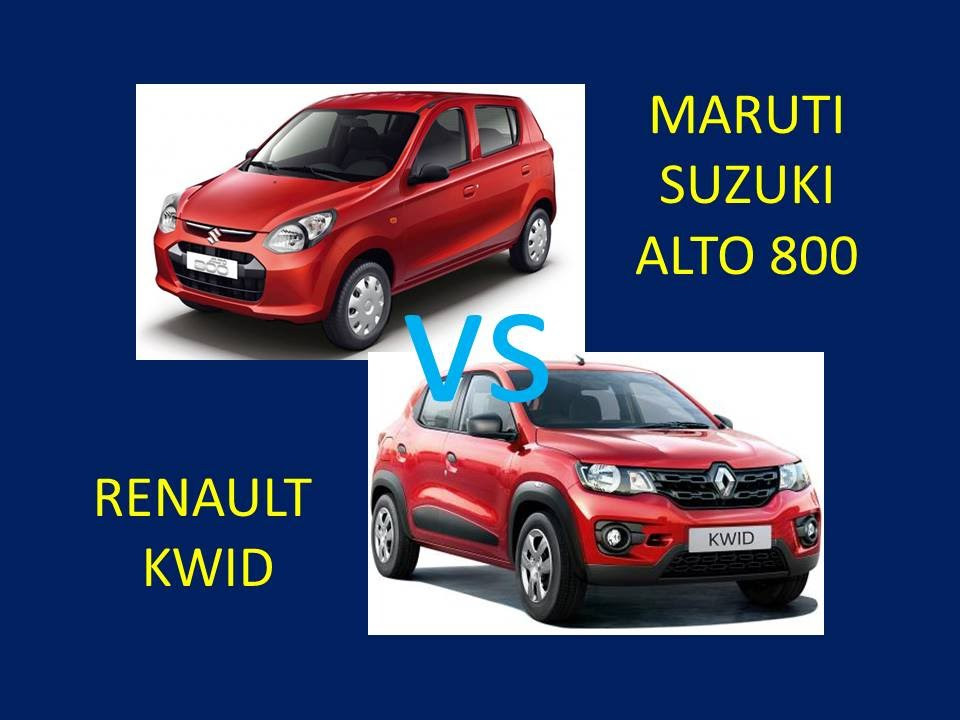 Renault Kwid Vs Maruti Suzuki Alto 800 Comparison Review Features