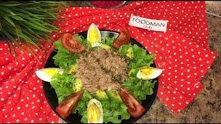 Салат с тунцом и авокадо: рецепт от Foodman.club