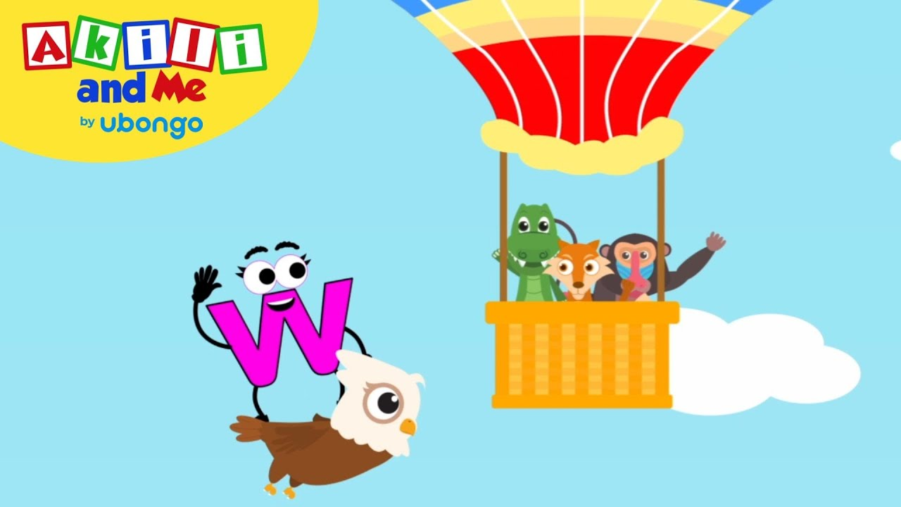 Learn Letter W! | The Alphabet with Akili | Cartoons for Preschoolers