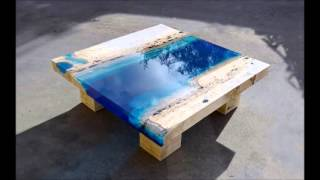 Lagoon Tables That I Made By Merging Resin With Cut Travertine Marble Slideshow
