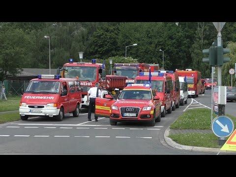 Feuerwehrbereitschaft 1 RP Köln (Aachen/Heinsberg) zur überörtlichen Hilfe nach Wesel