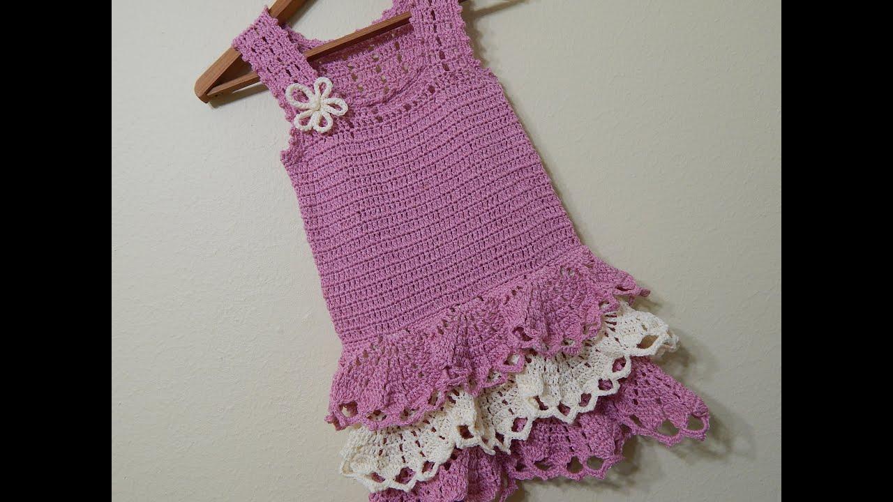 vestido para ni a crochet parte 1 de 3   youtube
