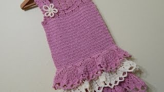 vestido para nia crochet parte 1 de 3