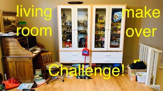 Part 1. Living Room make-over challenge, re-organize, re-decorate and renew that room!