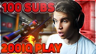 100 GIFTED SUBS, 200 IQ PLAYS & SLAG I BORDET! (TWITCH HIGHLIGHTS #12)