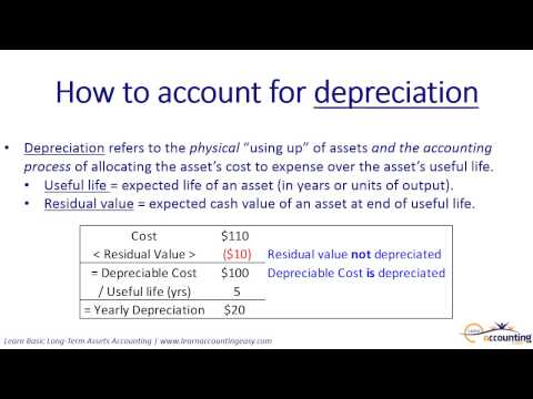 How to account for fixed assets, including depreciation (2 of 5)