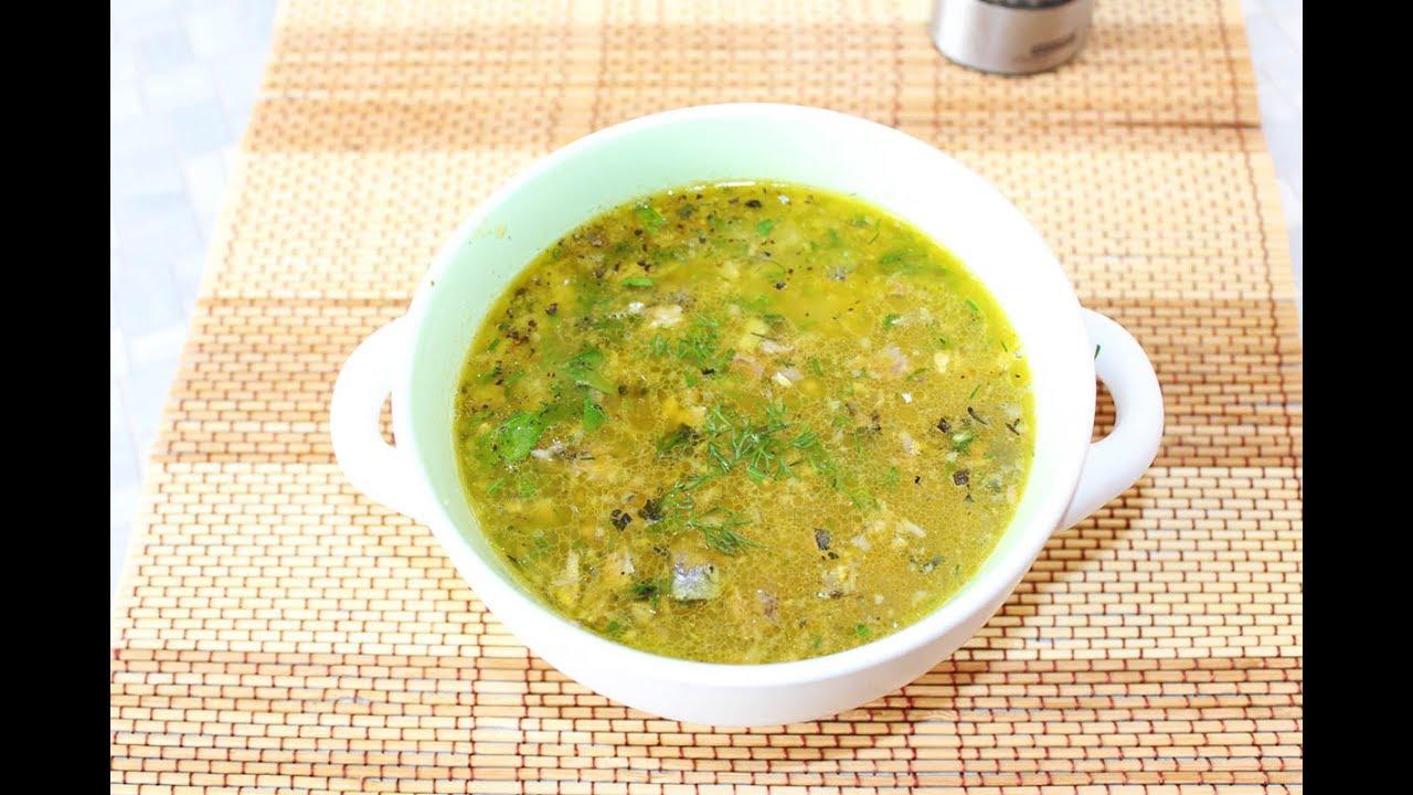 Суп из консервов. Вкусный рыбный суп из сайры.