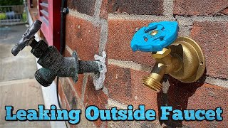 how to replace a leaking outside faucet in 5 minutes garden faucet hose spigot