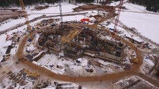 Стройка главного храма ВС РФ с высоты птичьего полета