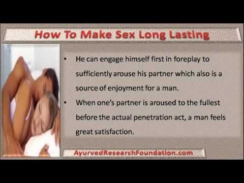 How to make sex longer for a man