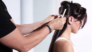 Applying Invisi-Tab Tape Hair Extensions