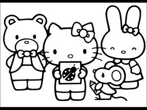 Hello Kitty and Friends Coloring Pages - YouTube