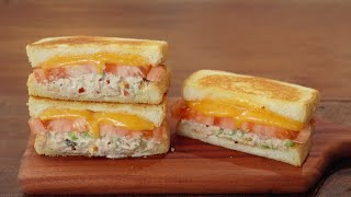 바삭바삭 참치멜트 토스트 만들기 :: 핵꿀맛! 참치 샌…
