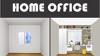 Скачать Home Office Quarto Pequeno Decoração Aproveitando Parede Com Janela The Sints