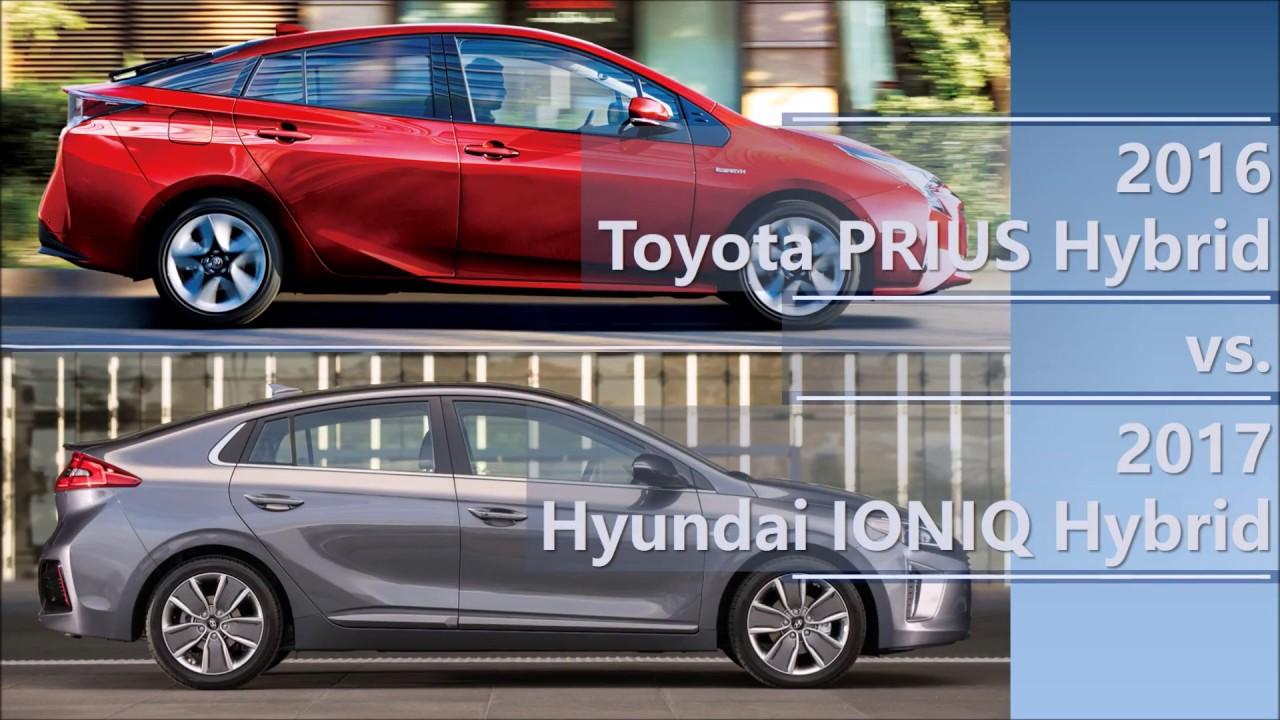2016 Toyota Prius Hybrid Vs 2017 Hyundai Ioniq Comparison