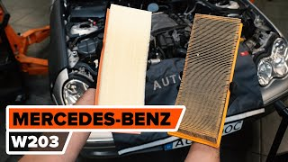 How to change air filter on MERCEDES-BENZ W203 C-Class  [TUTORIAL AUTODOC]