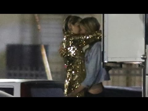 Watch Miley Cyrus' Steamy Make-Out With Victoria's Secret Model Stella Maxwell