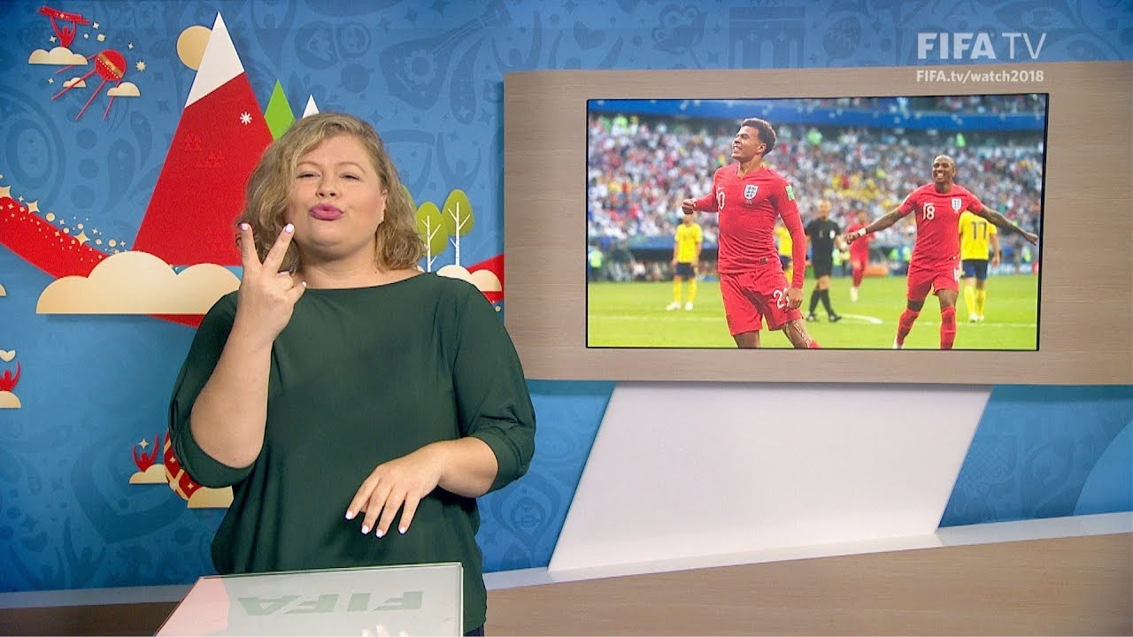 FIFA WC 2018 - SWE vs. ENG – for Deaf and Hard of Hearing - International Sign