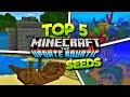 Top 5 Crazy & Weird MCPE Seeds - Minecraft PE 1.5 Aquatic Update SEEDS