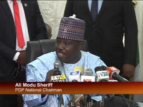 Ali Modu Sheriff Resumes Office As PDP National Chairman - YouTube