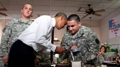 President Obama Visits Troops At Fort Bliss