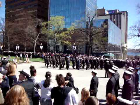 Canadian Navy Centennial March past with colours freedom of the city parade Halifax NS
