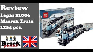 Review Lepin 21006 - Maersk Train