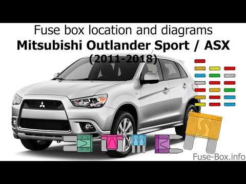 fuse box location and diagrams mitsubishi asx outlander 2011 Mitsubishi Outlander Sport Wiring Diagram 2000 mitsubishi montero sport stereo