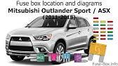 Fuse Box Location And Diagrams Mitsubishi Outlander 2014 2018 Youtube