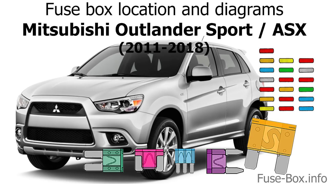 fuse box location and diagrams: mitsubishi asx / outlander sport  (2011-2018) - youtube  youtube
