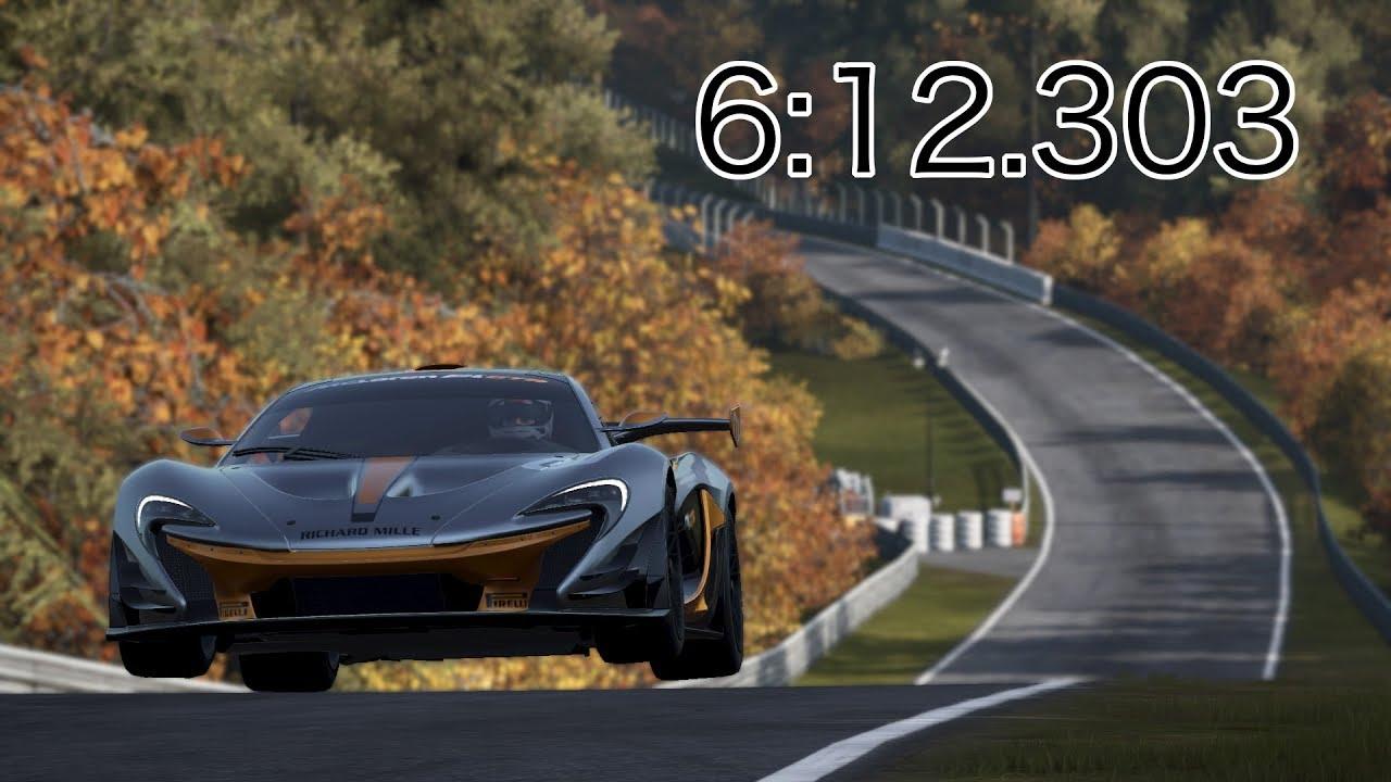 Project Cars 2 Mclaren P1 Gtr Nürburgring Nordschleife 6 12 303 World Record