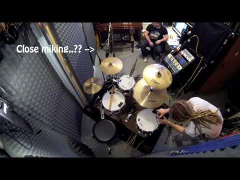 Setting Up Drums - Island Studios